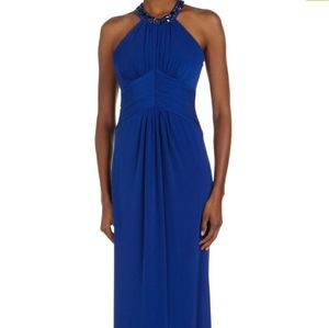 Laundry by Shelli Segal Bead-Trim Racerback gown